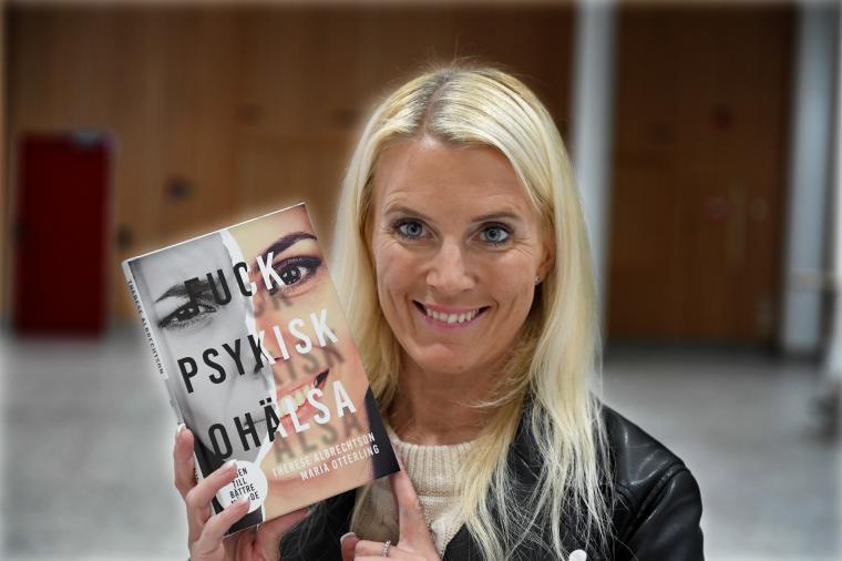 """Therese Albrechtson släppte i går sin tredje bok:""""Fuck psykisk ohälsa – vägen till bättre mående""""."""