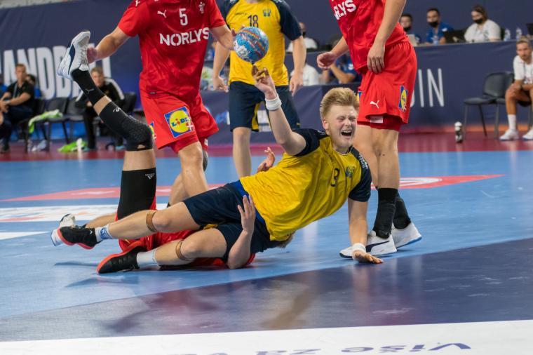 Sävehofspelarna Felix Möller (bilden, Oscar Sävinger och Malte Celander var med och blev sjua på U19-EM i Kroatien.