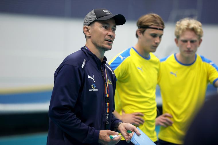 Markus Puskala, U19-herrlandslagets förbundskapten.